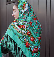 Вишукана жіноча хустина (120х120см, 80%-шерсть), фото 1