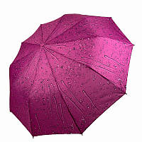 """Складаний зонт жіночий напівавтомат """"Краплі дощу"""" від SL, бузковий, 497SL-2, фото 1"""