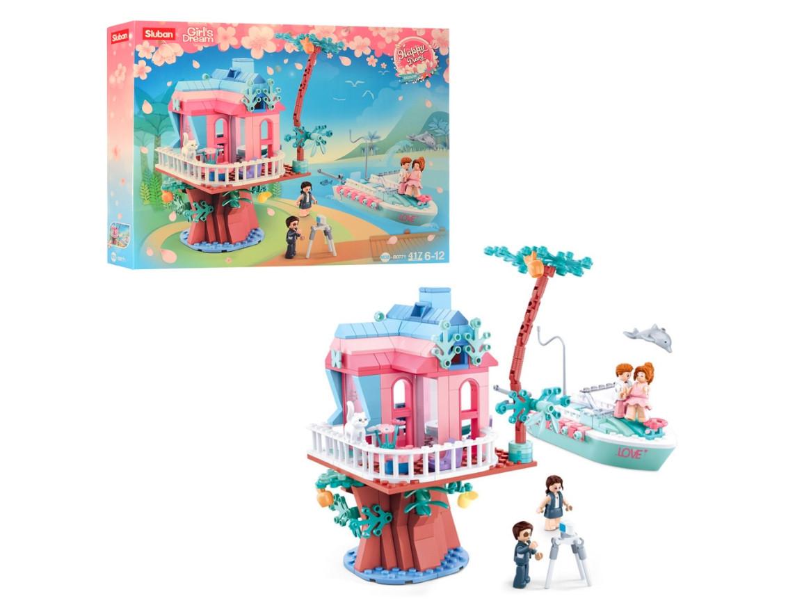 Конструктор Розовые мечты SLUBAN M38-B0771 Свадебный домик на дереве