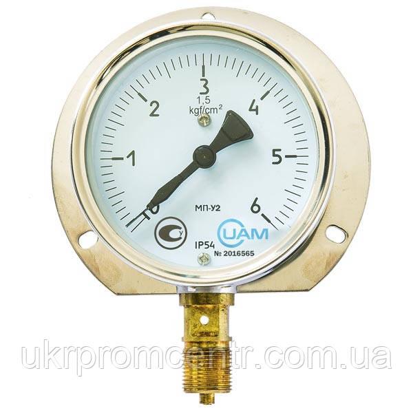 Манометр МП-У2, мановакуумметр МВП-У2  для измерения кислорода, ацетилена, хладонов.