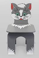 Стул детский Котенок серый (076)