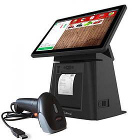 """POS Комплект для магазина: Сенсорный терминал 11,6"""" с принтером чеков, сканер + Облачная программа"""
