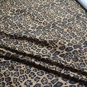 Плащевая ткань лаке принт леопард