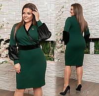 "Элегантное женское платье ткань ""Креп-дайвинг"" 50, 52 размер батал"