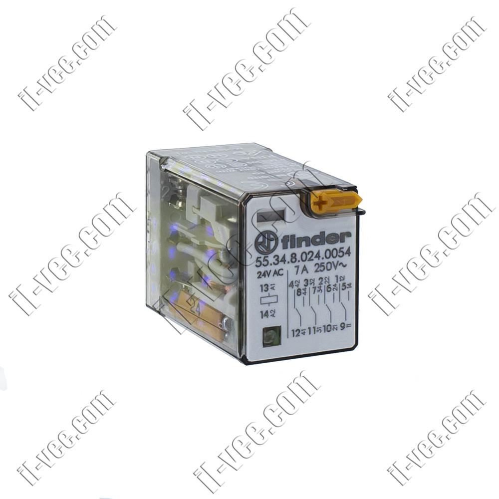 Реле FINDER 55.34.8.024.0054, 24VAC, 7А/250VAC 7А/30VDC