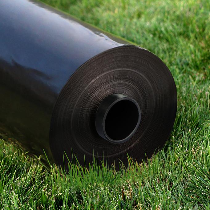 """Пленка  полиэтиленовая черная 40 мкм (1.2х500м) """"Планета Пластик""""  (для мульчирования)"""
