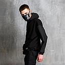 Худи-Анорак мужской черный Кабал  от бренда ТУР, фото 6