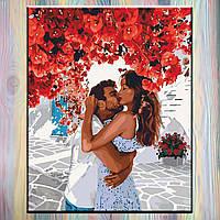 """Картина по номерам, холст на подрамнике, Пара """"Сладкие объятия"""" 40*50 см, без коробки"""