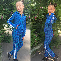 Детский спортивный костюм трикотаж рост:128-140 см