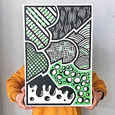 "Картина ""Green Map"" 600х400 мм, авторская работа"