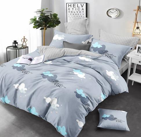 Двуспальный комплект постельного белья евро 200*220 сатин (13646) TM КРИСПОЛ Украина, фото 2