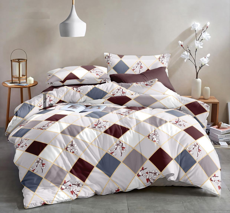 Двуспальный комплект постельного белья 180*220 сатин (13636) TM КРИСПОЛ Украина
