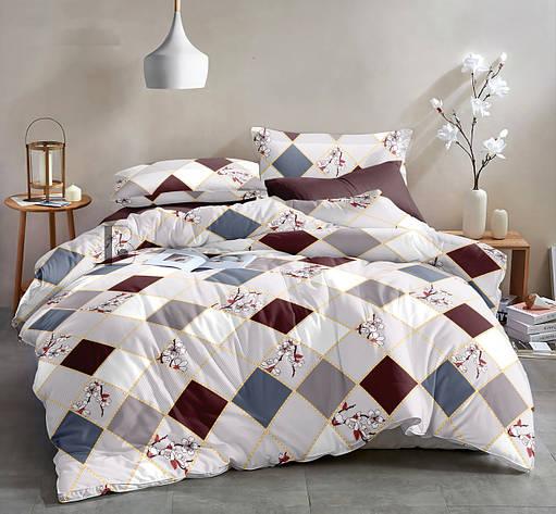 Двуспальный комплект постельного белья 180*220 сатин (13636) TM КРИСПОЛ Украина, фото 2