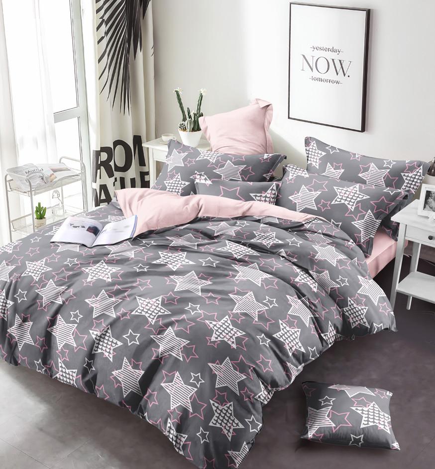 Двуспальный комплект постельного белья 180*220 сатин (13628) TM КРИСПОЛ Украина