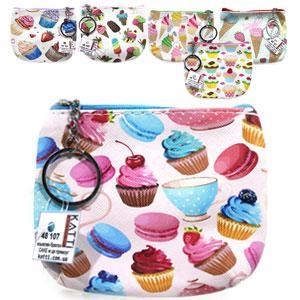 48107 кошелек-брелок KATTi малый CAKE цветной прямоугольный в ассортименте 12х9см