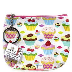 48107 кошелек-брелок KATTi малый CAKE цветной прямоугольный в ассортименте 12х9см, фото 3