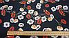 Тканина шовк Армані чорного кольору з квітковим принтом, фото 4