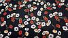 Тканина шовк Армані чорного кольору з квітковим принтом, фото 2
