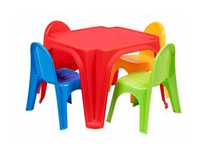 Детский игровой столик + 4 стульчика