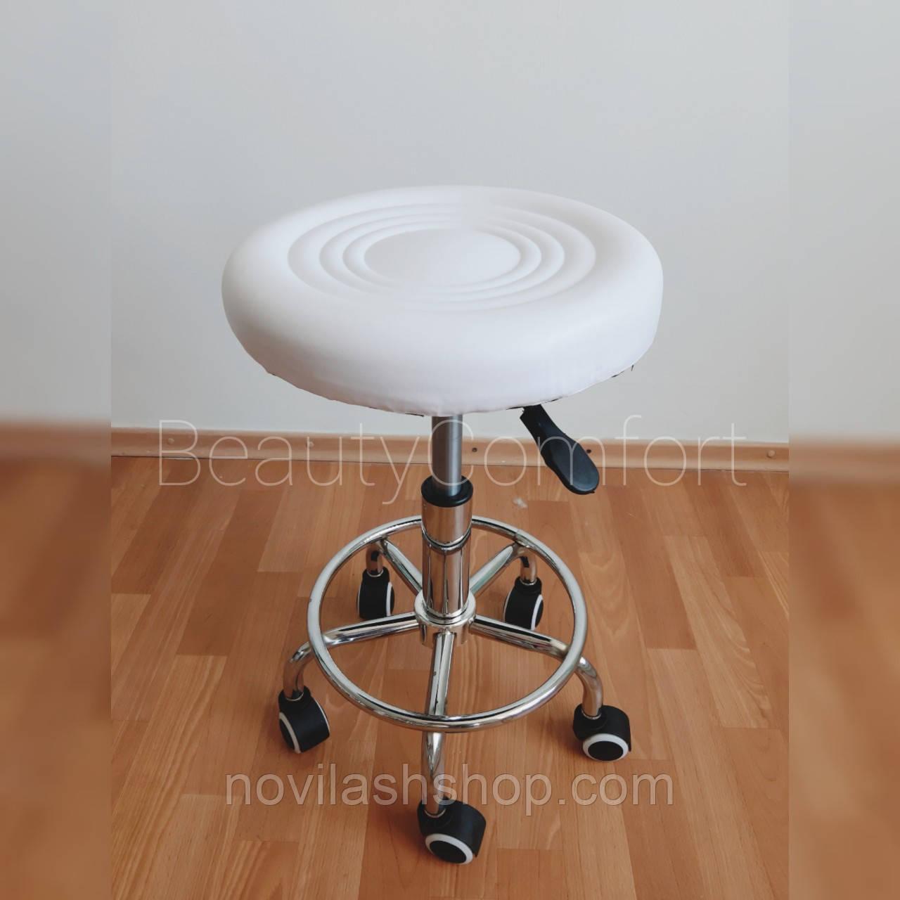 Стілець для майстра без спинки (білий)