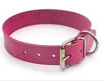 Ошейник для собак кожаный О 2,5/36-45 розовый распродажа нестандарт