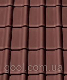 Черепица керамическая (Креатон Баланс) Creaton Balance Nuance тёмно красный - коричневый ангоб.
