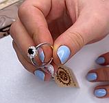 Серебряное кольцо с гранатом и золотом Лурд, фото 2