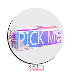 48109 косметичка KATTi средняя Единорог полу-прозрачная отражающая блок 5х6х19,5см, фото 2