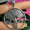 Большой серебряный кулон Дерево Жизни - Кулон мужской Древо Жизни серебро, фото 4