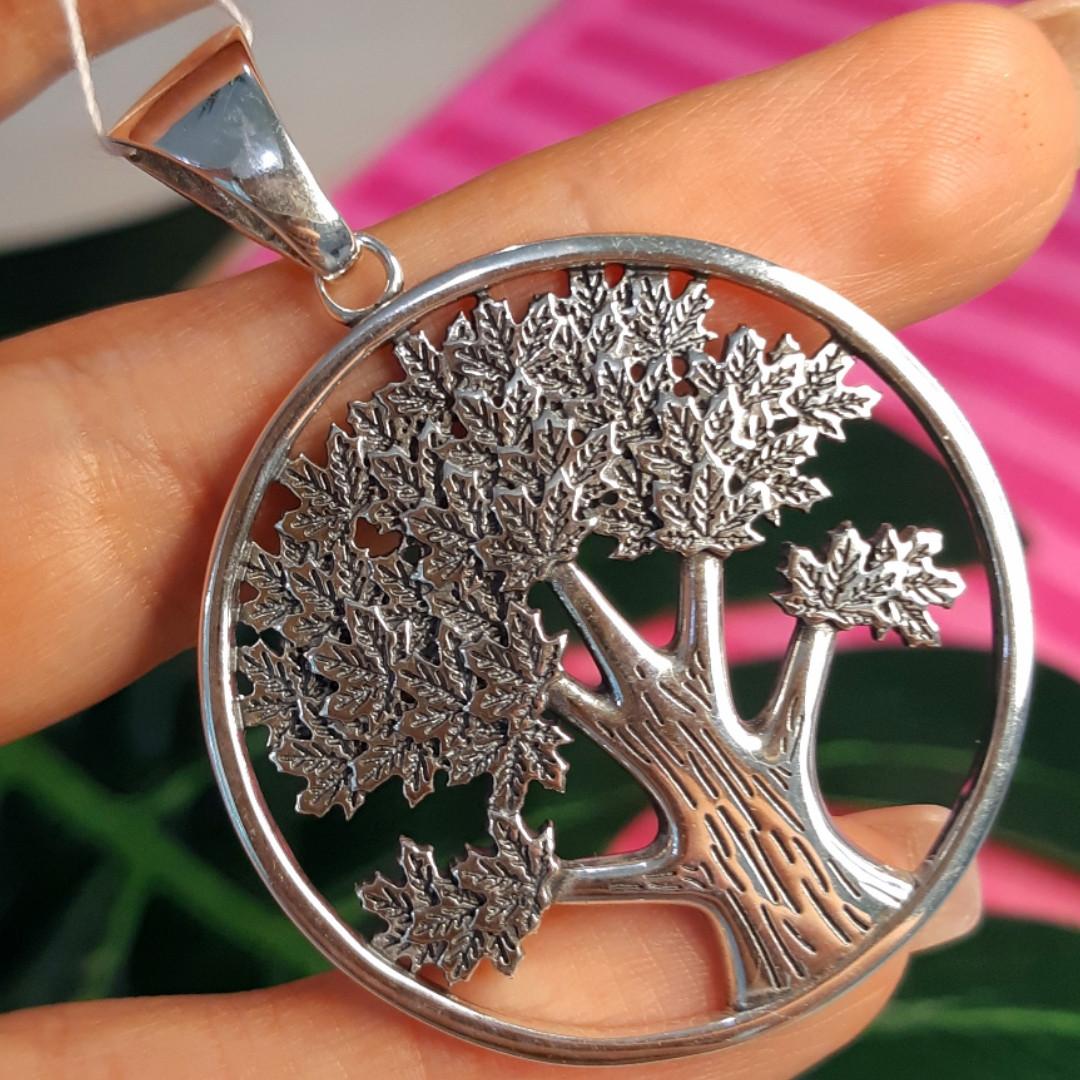 Большой серебряный кулон Дерево Жизни - Кулон мужской Древо Жизни серебро