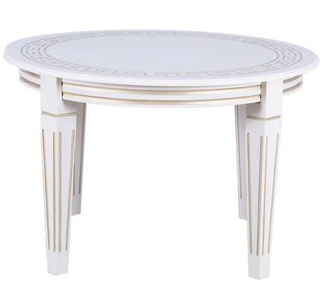 Стол круглый Волевр белый + патина, фото 2