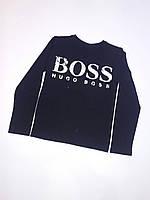 """Батник детский для мальчика""""Boss""""6-10 лет, темно-синего цвета"""