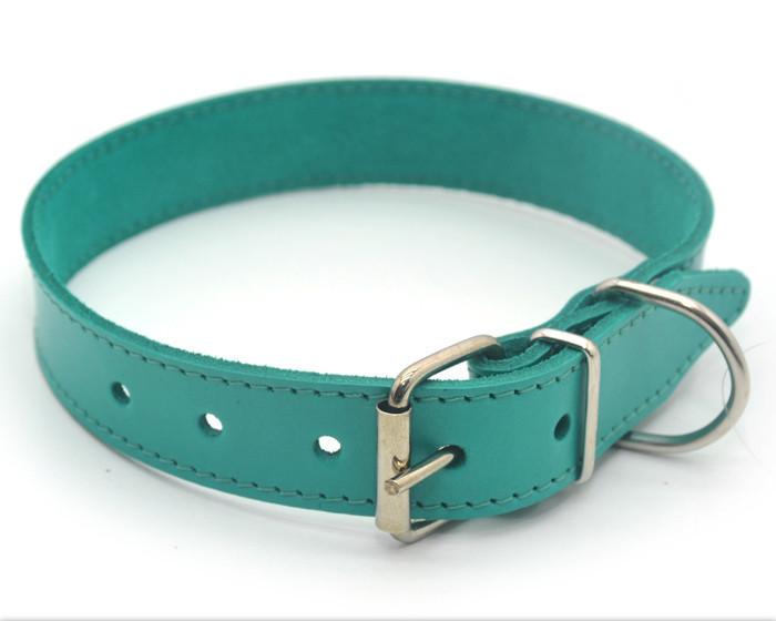 Ошейник для собак кожаный О 3,5/44-55 мятный распродажа нестандарт