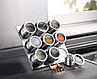 Набор для специй на магнитной подставке,баночки для приправ спецовница, фото 4