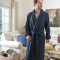 Мужской махровый халат CASUAL AVENUE Chicago NAVY синий размер M