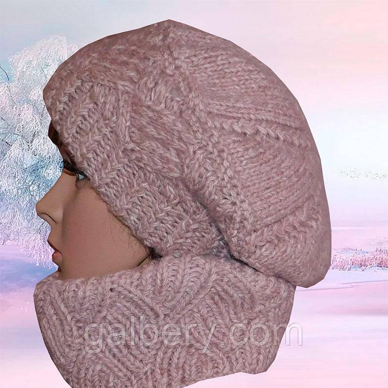Зимова шапка бере ручної роботи