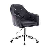 Косметическое кресло HR830 черный  кожзам , колеса., фото 1