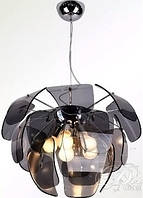 Люстра потолочная подвесная на 5 ламп Е27 6932/5 Стекло Графит