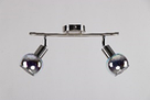 Люстра потолочная на 2 лампы 3Д-эффект  06-8642/2 CR+SN, фото 3