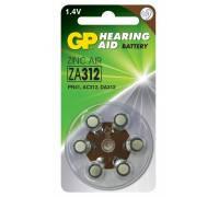 Батарейка для слуховых аппаратов GP ZA 312-D6, PR312, DA 312X, 1.45V
