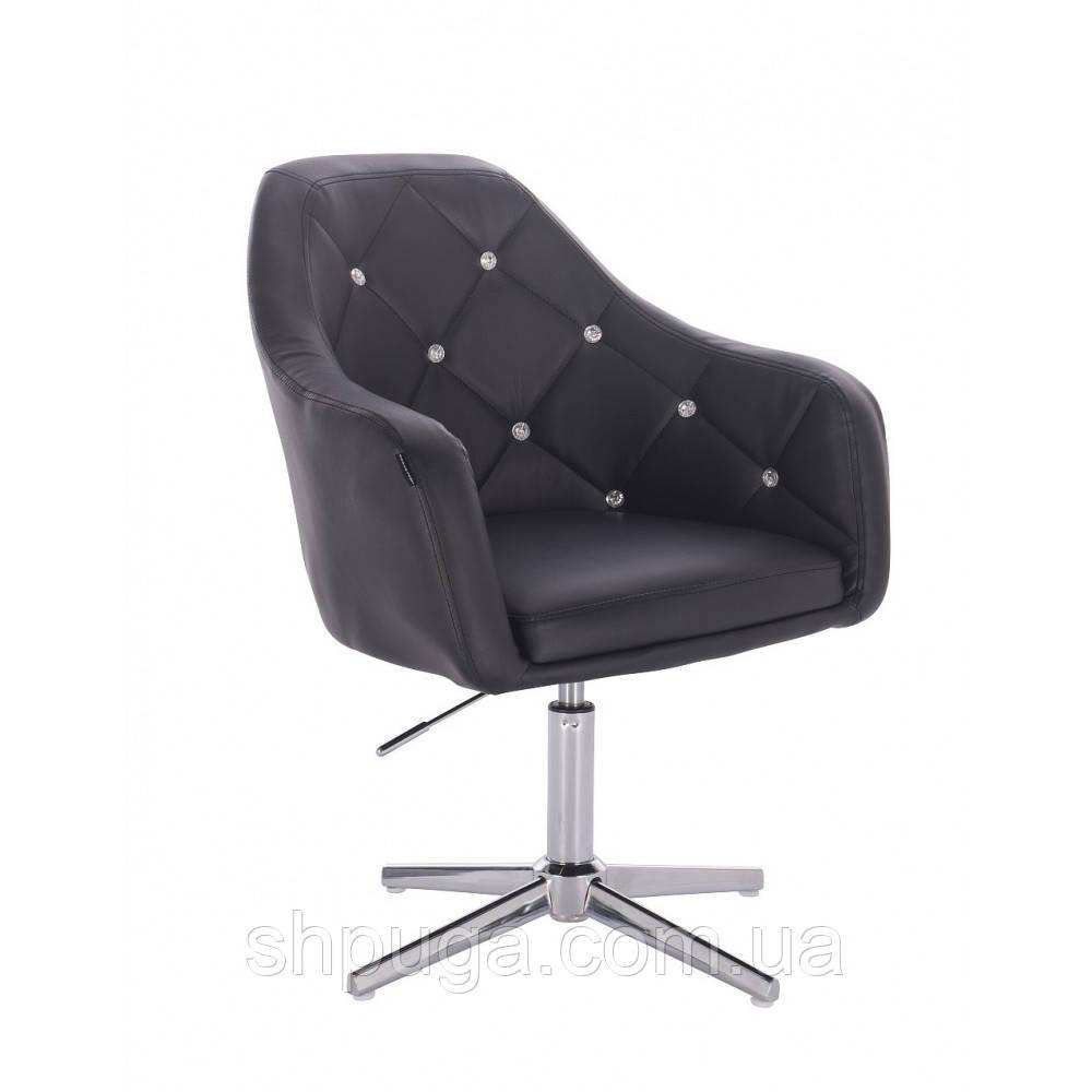Косметическое кресло HR830 черный  кожзам , стопки