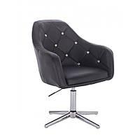 Косметическое кресло HR830 черный  кожзам , стопки, фото 1