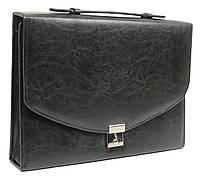 Деловая папка-портфель из искусственной кожи JPB Черный (AK-08 black)