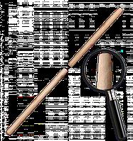 Черенок деревянный, лакированный TRAPEZ. Длина: 120 см Диаметр: 25 мм, TVT25120