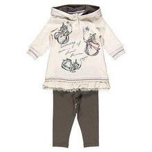 Дитячий комплект для дівчинки Одяг для дівчаток 0-2 BRUMS Італія 133BEEM005 Молочний