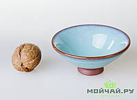 Чашка #10, конус, глина с глазурью., фото 1