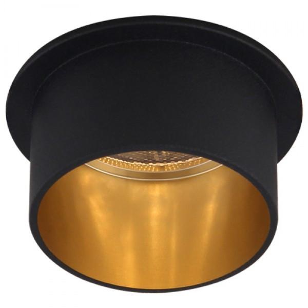 Встраиваемый светильник Feron DL6005 черный-золото