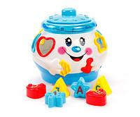 Музыкальная развивающая игрушка для малышей, Горшочек ,сортер 17см, 699736R/2056