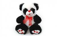 Панда большая с красным бантом музыкальная, 50 см