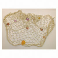 Сетка морская с ракушками декоративная